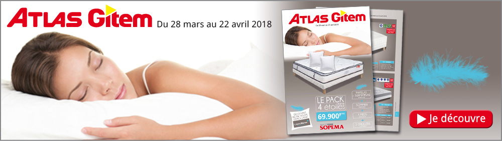 Catalogue Literie Blanc Atlas Gitem 2018